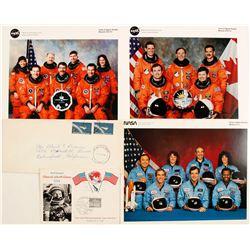 NASA Space Shuttle Crew Photos and Mercury Cover