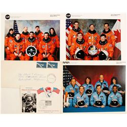 NASA Space Shuttle Crew Photos and Mercury Cover