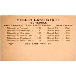 Stagecoach Schedule (Rare)