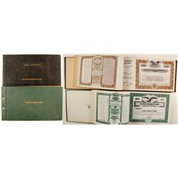 Unissued Stock Certificate Books (2)