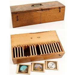 Unusual AOUW and Funeral Glass Slide Set
