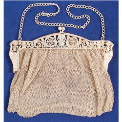 Silver Mesh Handbag