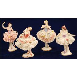 Four Dresden Ballerinas