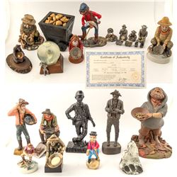 Group of Mining Related Sculptures