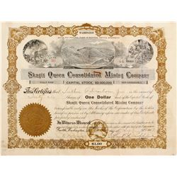 Stock Cert. Skagit Queen Consolidated Mining Co.