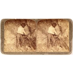 Stereoview of Copper Ore Miner, Metcalf, AZ