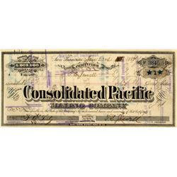 Consolidated Pacific Mining Company Stock Certificate