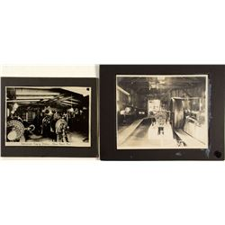 Two Large Mounted Mining Photographs