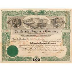 California Magnesia Co.Stock Cert.