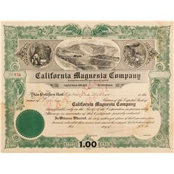 California Magnesia Co.Stock Cert.