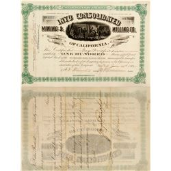 Inyo Consolidated Mining and Milling Stock