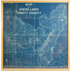 Map of Mining Lands Trinity County