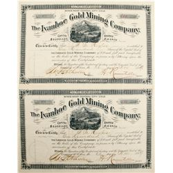 Stock Certs. (2) The Ivanhoe Gold Mining Co.