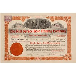 Stock Cert. Red Spruce Gold Mining Co.
