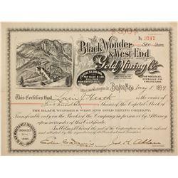 Black Wonder & West End Gold Mining Stock