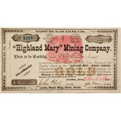 """Highland Mary"" Mining"