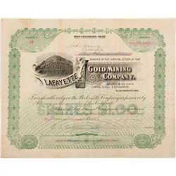 Lafayette Gold Mining Stock