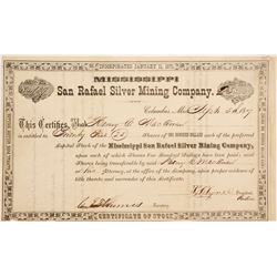 San Rafeal Silver Mining Co. Stock Cert.