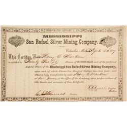 San Rafeal Silver Mining Co. Stock Cert.