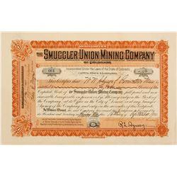 Smuggler Union Mining Stock