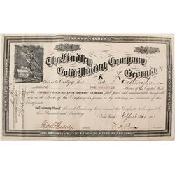 Findley Gold Mining Co. of Georgia Stock Certificate