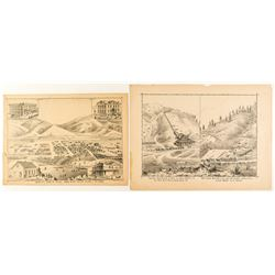 Two Early Idaho Illustrations: Mines & Birds-Eye View