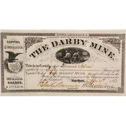 Darby Mine Stock Cert.