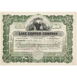 Lake Copper Co. Stock Cert.