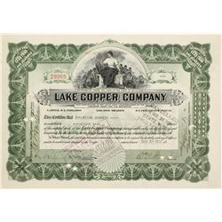 Lake Copper Co. Stock Cert.