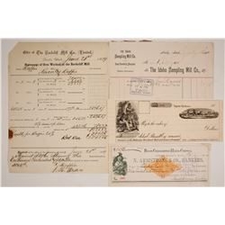 Four Western Mining Billheads and Checks
