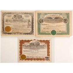 Broken Hills District Mining Stock Certificates