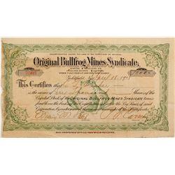 Original Bullfrog Mines Syndicate Stock