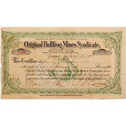 Original Bullfrog Mines Syndicate Stock