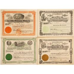 Montezuma Mining District Stock Certificates