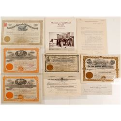 Stocks & Ephemera from Three Esmeralda County Mining Districts