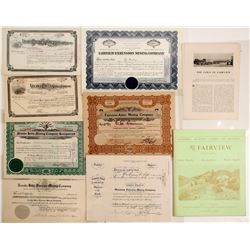 Fairview Mining District Stock Certificates & Ephemera