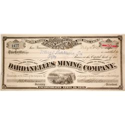 Dardanelles Mining Company Stock Certificate - Extra Rare Comstock Stock