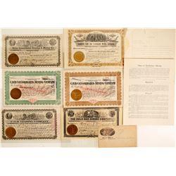 C.O.D. Mining Company Stock Certificates