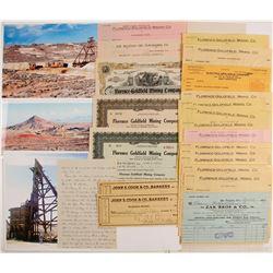 Florence-Goldfield Mining Co. Stock Certificates & Ephemera