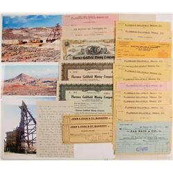 Florence-Goldfield Mining Co. Stock Certificates & Ephemera