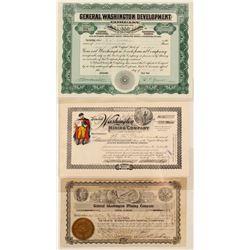 General Washington Mining Company Stock Certificates