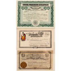 General Washington Mining Company Stock Certificates