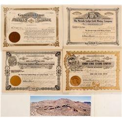 "Goldfield ""Ledge"" Mining Companies Stock Certificates"