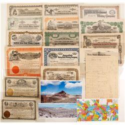 Goldfield / Diamondfield Stock Certificate & Ephemera Collection