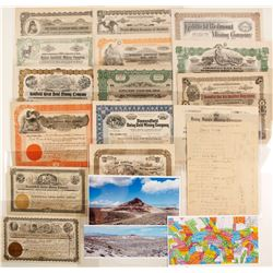 Goldfield / Diamondfield Stock Certificate & Ephemera Collection