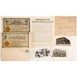 Goldfield Mining Stocks & Ephemera Related to G.H. Hayes