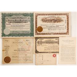 Goldfield Mining Stocks & Ephemera Signed by Charles S. Sprague