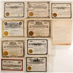 Jumbo Extension and Velvet Mining Companies Stock Certificates
