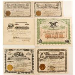 Mohawk Leasing Companies Mining Stock Certificates