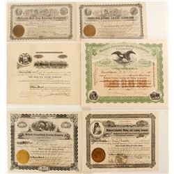 Mohawk Leasing Companies Mining Stock Certificates
